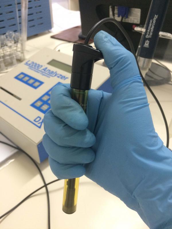 Ensaio de teor de clorados em óleo isolante